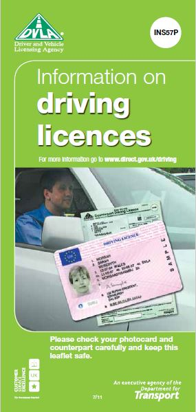 FP20. DVLA Information on Driving Licences