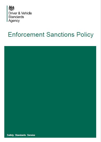 FP31. DVSA Enforcement Sanctions Policy
