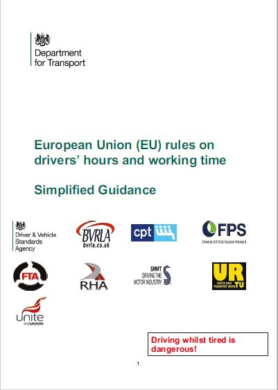 FP6. DfT Simplified EU Rules on Drivers' Hours and Working Time